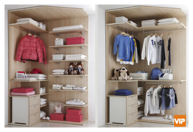 Come scegliere la cabina armadio adatta alla stanza dei ragazzi.