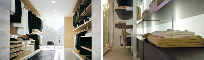 Cabina retroilluminata e cabina con faretti a soffitto